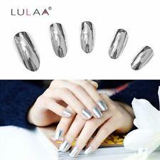 2pc/lot 6ml Silver Mirror Effect Metal Nail Polish Varnish Set Chic
