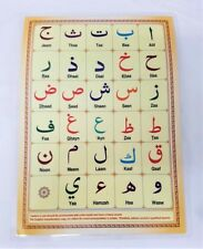 Laminated Arabic Alphabet Qaidah Card for Children (A4 - Single Page)