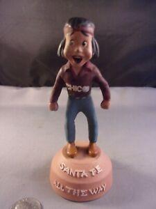 Santa Fe Railroad Chico Advertising Promotional Figure RARE Vintage