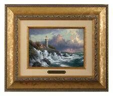 Thomas Kinkade Conquering the Storms Framed Brushwork (Gold Frame)