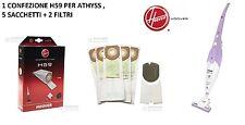 SACCHETTI ASPIRAPOLVERE HOOVER H59 ORIGINALI SCOPA ELETTRICA ATHYSS + FILTRI