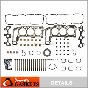 Fits 05-12 Jeep Cherokee Liberty Dodge Ram 3.7L Graphite Head Gasket Set Bolts