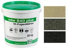 vdw 840 plus GftK Fugenmörtel 1K Pflasterfugenmörtel wasserdurchlässig12,5-25 kg