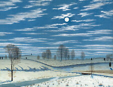 Images of Americana: Winter Scene in Moonlight, 1869  - Fine Art Print