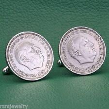 1957 Francisco Franco Coin Cufflinks, Spain 5 Pesetas Spanish Caudillo Dictator
