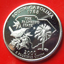 STRONG PROOF 2000 USA South Carolina Frosted Cameo Coin with NEW HOLDER