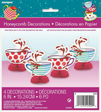 MAD HATTER Alice In Wonderland Tea Party Honeycomb Centrepiece Table Decorations
