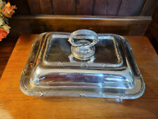 More details for good antique mappin & webb princes plate triple deposit entree serving dish