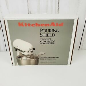 KitchenAid Pouring Shield Model KPS2CL Two-Piece for Stand Mixer NEW