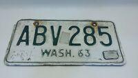 1963 Washington State vintage license plate ABV 285