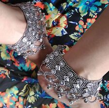 Wide Anklets Bracelet Ankle Chain Fashion Jewelry Boho Wedding Bare Foot Sandals