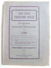 histoire Binche révolution brabançonne 1790 Brabant belge Belgique Hainaut TBE