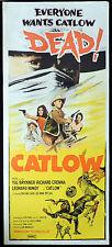CATLOW Original Daybill Movie Poster Yul Brynner Western