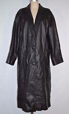 Nimbus Women's Black Leather Coat - Full Length - Size M - L