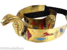 Belly Dance Costume Egyptian Brass Cleopatra Cobra Crown & Armlet Halloween 403