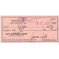 Chèque, Original Signé De Jessica Walter, Autographe, Cinéma Film TV Rare
