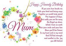 waterproof Memorial Graveside Card Birthday Mum Gran Granny Auntie Sister F31
