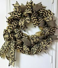 Sophisticated Burlap Wreath