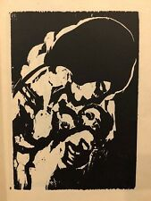 VINTAGE EMIL NOLDE WOODCUT PRINT 1947 ,YOUNG MOTHER, RUDOLF HOFFMANN ,BLOCK 8