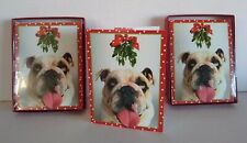 Leaning Tree Bull Dog Christmas Cards (2 Boxes Of 12 Cards) 24 Cards Total