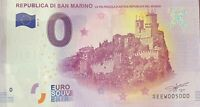 BILLET 0  EURO REPUBLIC A DI SAN MARINO 2017  NUMERO 5000 DERNIER BILLET