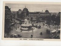 Paris Place de la Republique France Vintage Postcard 348b