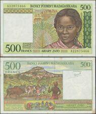 Madagascar 500 Francs 1994 P-75a UNC w/ tone