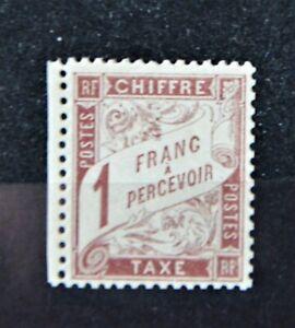 Timbre-Taxe Type Duval 1884 N° 25 1F. marron, neuf TTB Cote 800 €