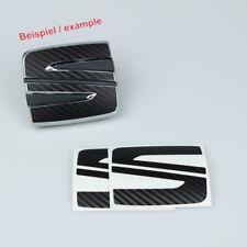Emblem sticker seat badge logo negro carbon para Seat Leon Cupra 5f SC St FR