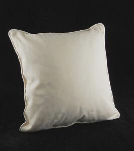 """Cushion Covers Cream Squares Design 18"""" x 18"""" Pack of 4 Jacquard Zip Closure"""