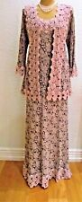 ANN BALON Size 14 16 Lilac Lace Ladies Designer Wedding Dress and Jacket Outfit