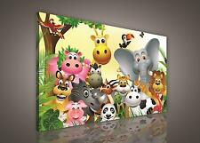 CANVAS PRINT PHOTO PICTURE (PP235O1) 100x75cm Animals Girls Childrens Bedroom