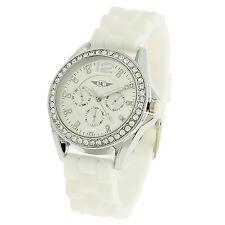 Montre-Concept - Montre Femme - Cadran rond strass bracelet blanc MVS-2-00101