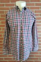 Peter Millar Long Sleeve Button Down Mens Shirt Size Medium 100% Cotton EUC