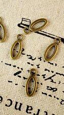 Alfabeto Lettera O ciondolo bronzo stile vintage gioielli forniture C32