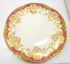 "Antiques Limoges JPL Pouyat Handpainted Gold Encrusted Plate, 9 1/2"""