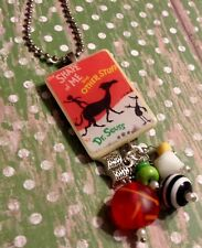 The Shape of Me Book Jewelry ~Dr Seuss Reading Necklace HANDMADE Teacher GIFT