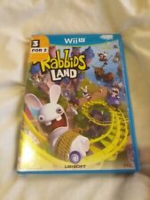 Rabbids Land Nintendo Wii U Game Complete PAL Boxed Family Rayman