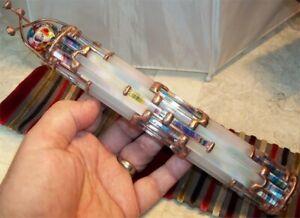 Randel Art Glass Rod Kaleidoscope NAVAJO FROST 360° CHAOS Marble RAG HandMade