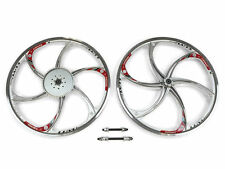 Aluminum Alloy Motorized Bicycle Wheel Set With 44T Sprocket (Silver) (HY-22)