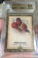 KEVIN DURANT rookie Card Artifacts Upper Deck 2007 RC GEM MINT 9.5 BGS W/10 Sub!