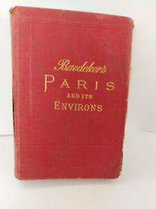 Paris and its Environs - Handbook for Travellers - Karl Baedeker  1907