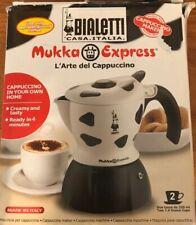 BIALETTI Mukka Express Cappuccino Maker 2 Cups White And Black Aluminum
