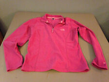 NEW Womens The North Face TKA 100 Thermal PolarTec Pink 1/4 Zip Jacket MEDIUM