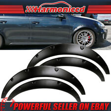 V2 Style Universal 50mm Wide PU Black Fender Flares Wheel Cover 4Pcs Set