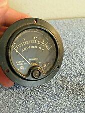 Vintage Sangamo Weston Amperes Model 507 Amperes Rf 0 3 Panel Meter