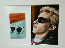 """BURBERRY SUNGLASS IMAGE COUNTERCARD POSTER LARGE SIZE 15.5"""" X 11.7"""""""