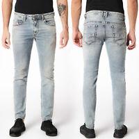 Diesel Herren Slim Skinny Fit Lyocell Stretch Jeans Hose Blau - Thommer 084RF