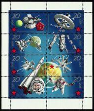 Germany (East) DDR GDR 1971 MNH Soviet Space Research Minisheet Soyuz Gagarin
