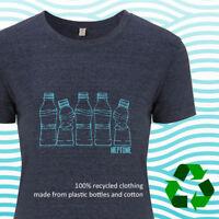 Plastic bottle print recycled plastic bottle t-shirt